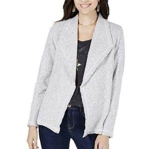 Style & Co L Black White Blazer 6AP61